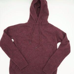 H&M Burgundy Pullover Wool Sweater Hoodie